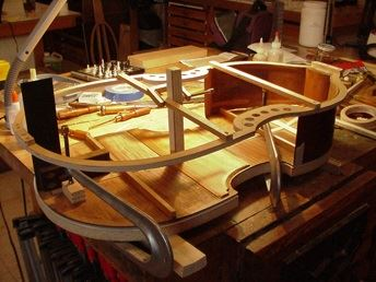 Andrew Dipper rebuilds a rib assembly onto a back
